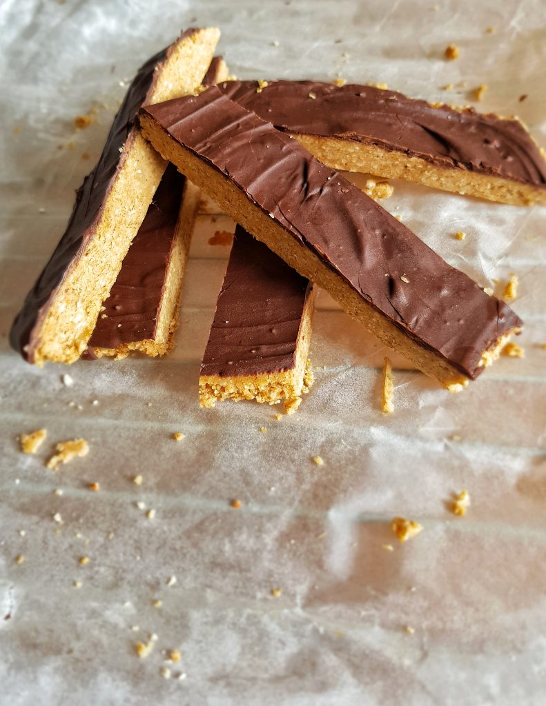 Peanut butter protein chocolate bars